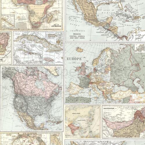 NAVIGATOR VINTAGE MAP /& GLOBETROTTER MAP WALLPAPER ARTHOUSE HOLDEN GREY NATURAL