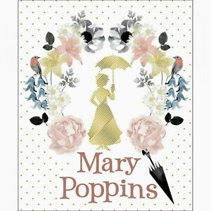 WHITE-MARY-POPPINS-DAMASK-FABRIC-PANEL-w-METALLIC-35-034-QUILTING-CAMELOT-COTTONS