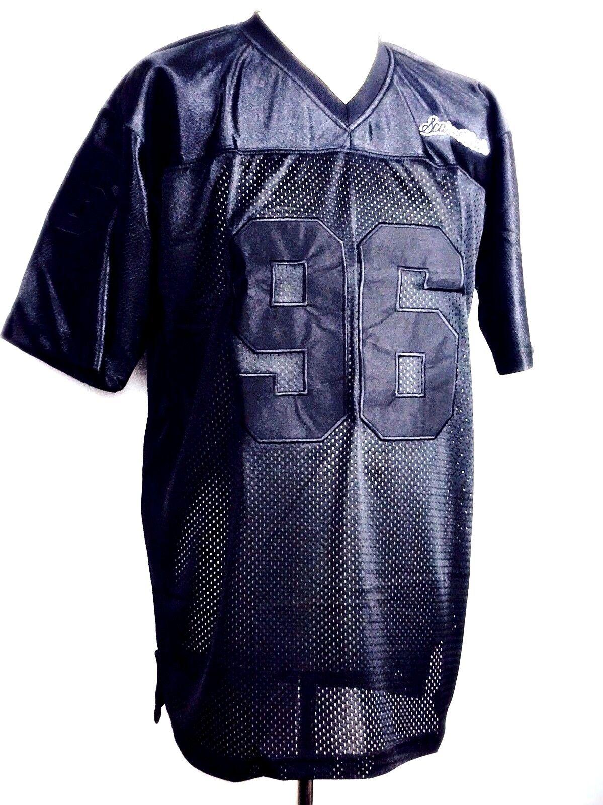 RICAMO Uomo Nero Maglia NFL Football Americano Camicia di Seta Seta Seta T-shirt S-4XL 41bbac