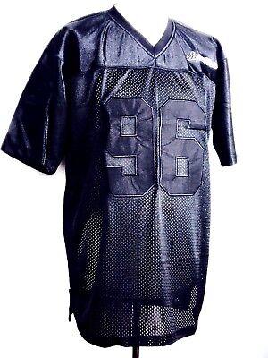 SCARCEWEAR MEN'S BLACK NFL JERSEY AMERICAN FOOTBALL SILKY SHIRT T-SHIRT   eBay