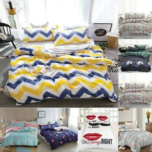 New-Luxury-Duvet-Quilt-Cover-With-Pillowcases-Bedding-Set-Single-Double-King