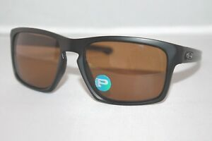 e22560f467 Details about Oakley Sliver POLARIZED Sunglasses OO9262-08 Matte Black W   Bronze Iridium Lens