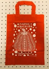 Yayoi Kusama canvas tote bag red and black UNIQLO bag back Free Shipping Japan