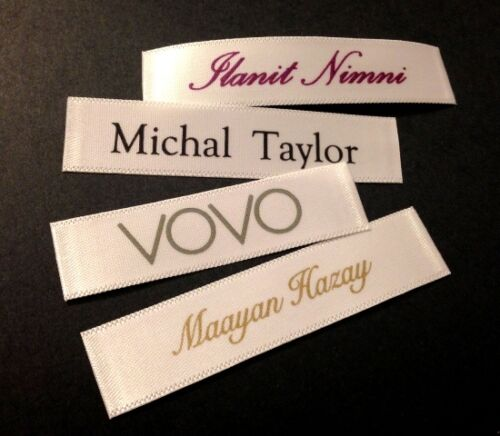 600pcs High Quality Custom Printed Satin Clothing Sewing Labels Tags U.S Seller
