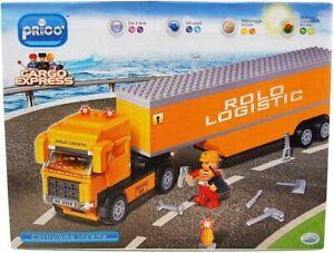 Costruzioni-Prico-039-Autotreno-Auto-Treno-350-Pezzi-Compatibili-Con-Lego