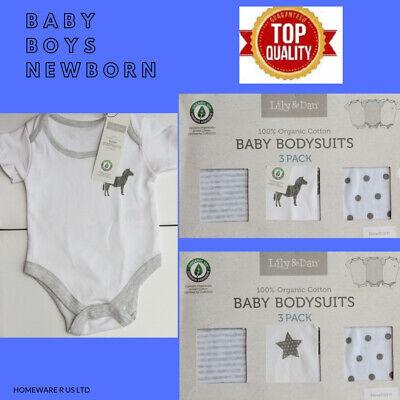 12-18 months bodysuits vests 3 pack boxed plain yellow grey bee zebra boys girls