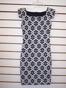 Girls Un Deux Trois Black /& White Floral Dress Size 8-16