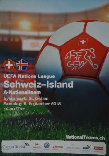 Programm LS 8.9.2018 Schweiz Switzerland Island Iceland in St Gallen