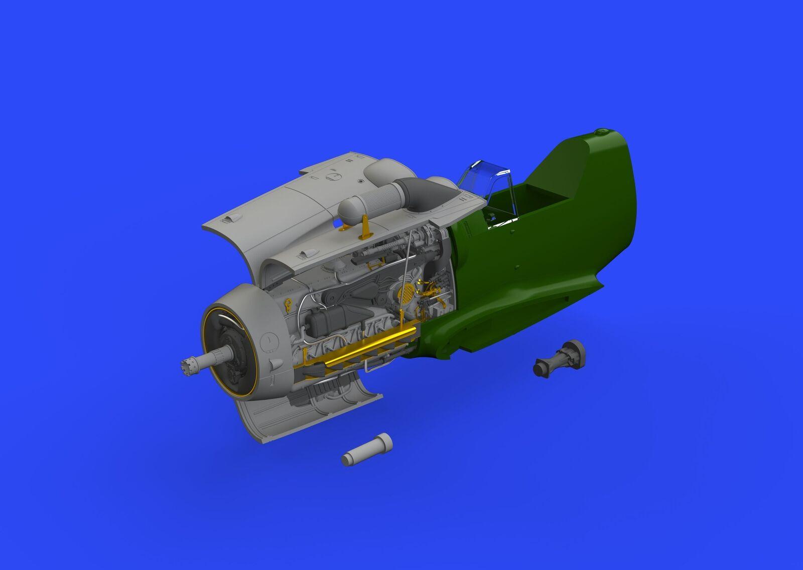 Eduard Brassin 1 48 Messerschmitt Bf-109g-6 Motor  648406