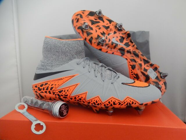 watch 6d24e a4055 NIKE HYPERVENOM PHANTOM II 2 SG-PRO WOLF GREY-TOTAL ORANGE SZ 10.5  [747489-080]