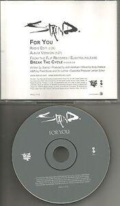 Aaron-Lewis-STAIND-For-you-w-RARE-RADIO-EDIT-PROMO-DJ-CD-single-2001-USA-MINT