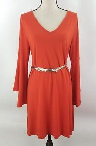 Ann-Taylor-LOFT-Orange-Bell-Sleeve-Flare-Fit-V-Neck-Petite-Size-XXSP-Petite-NWT