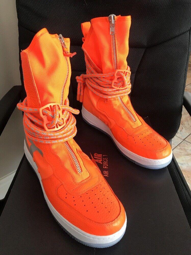 Nike sf-af1 hi sneakerboot männer größe 9 insgesamt 800 orange aa1128 orange / insgesamt