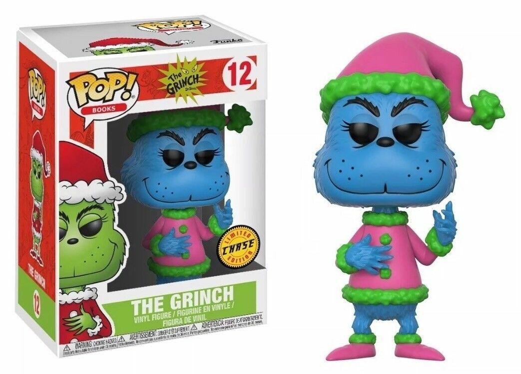 THE GRINCH - CHASE  GRINCH 3.75  POP BOOKS VINYL FIGURE FUNKO 12 CHRISTMAS