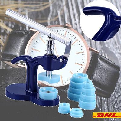 Einpresswerkzeug Gehäuseschließer Uhrendeckelpresse Werkzeug mit 12 Druckplatten