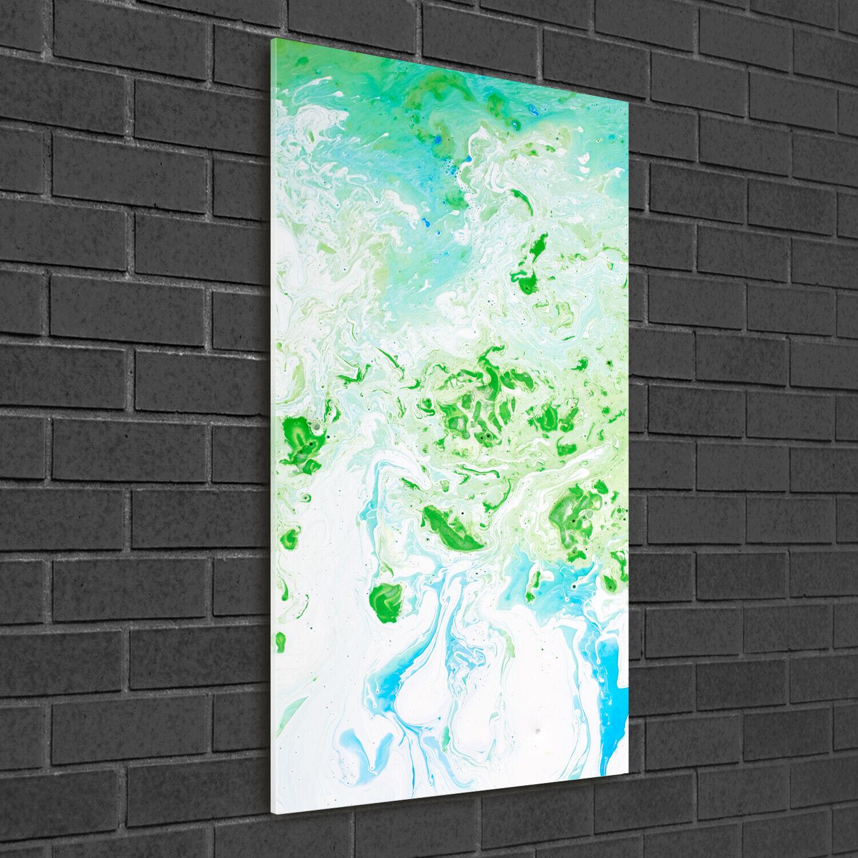 Wand-Bild Kunstdruck aus Acryl-Glas Hochformat 50x100 Abstrakte Flecken