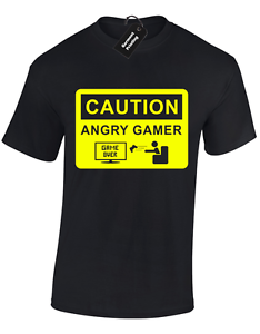 CAUTION-ANGRY-GAMER-KIDS-CHILDRENS-T-SHIRT-FUNNY-GAMING-GIFT-TOP