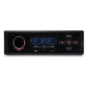 1-DIN-Car-Stereo-FM-AM-Radio-SD-USB-AUX-Bluetooth-Steering-Wheel-Remote-Control