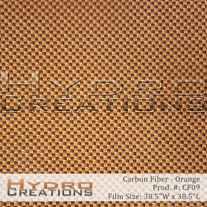 HYDROGRAPHIC FILM FOR HYDRO DIPPING WATER TRANSFER FILM CARBON FIBER - ORANGE