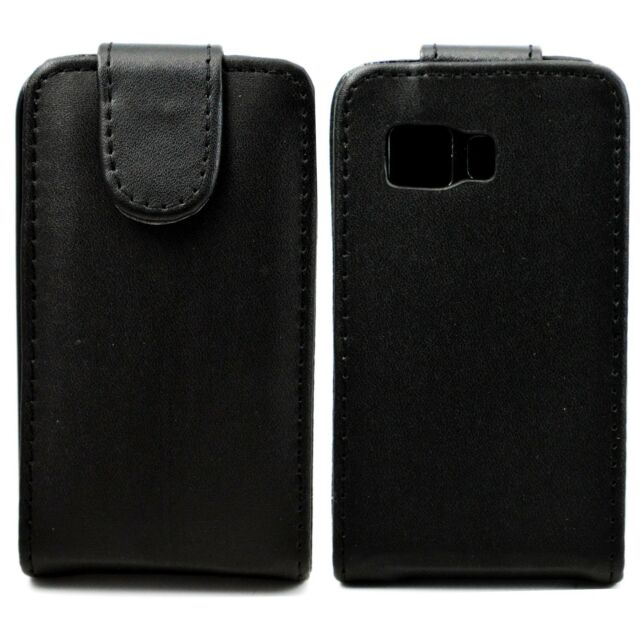 Magnetic Flip Black Leather Cover Case For Samsung Galaxy Young 2 Duos SM-G130