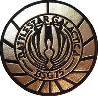 Battlestar Galactica 75 Gold Logo Iron-on/sew-on Embroidered Patch