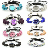 Shamballa Crystal 10mm Disco Ball Bling Bracelet Matching Watch face Diamante