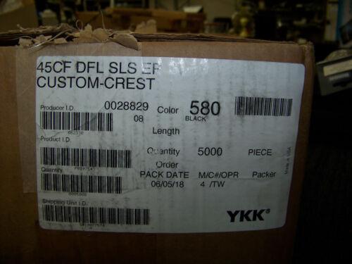 Producer ID 0028829 New YKK Zipper Pull Slide 45CF DFL SLS EP Black 5000 ea