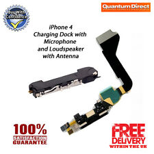 Replacement Charging Dock Assembly + Microphone & Loudspeaker for BLACK iPhone 4