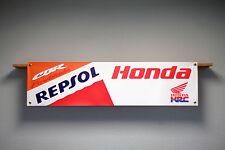 Honda HRC REPSOL CBR Fireblade Moto Taller o Garaje PVC bandera signo