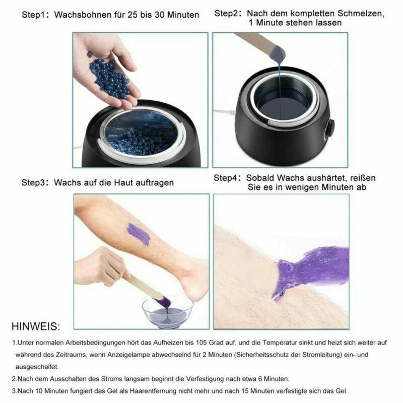 Wachsgerät Set Waxing Körper Haarentfernung Heißwachs Salon Wachs Bohnen 400g