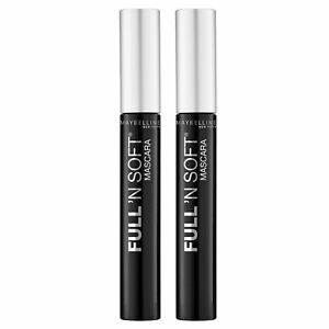 NEW Maybelline Full 'N Soft Advanced Thickening Lash Mascara Very Black 8.2ml...