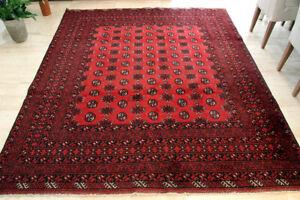 Vintage-Afghan-Bashir-Turkoman-Bokhara-HandWoven-Wool-Rug-Carpet-Tapis-8-039-X-6-7-039