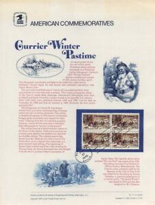 71-13c-Currier-Christmas-1702-USPS-Commemorative-Stamp-Panel-w-FDC-Tied