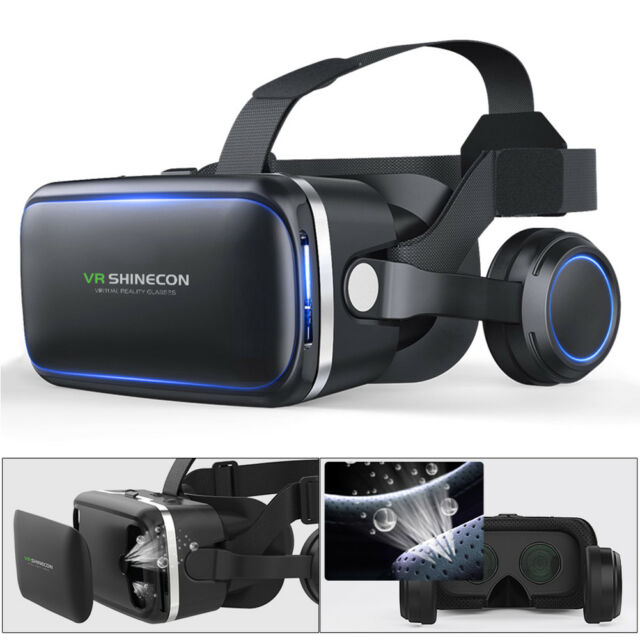 2561e888e0b 3D Glasses Virtual VR Box Goggles TV Video Glasses Reality Headset TV Video  Game for sale online
