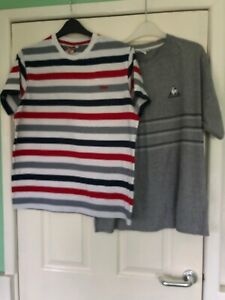 NWT Mens Casual V-Neck Tee Summer T-shirts Stripe Design S M Large XL