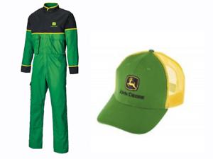 DemüTigen Genuine John Deere Adult Overalls And Trucker Cap Package Gift Overall Kleidung & Accessoires