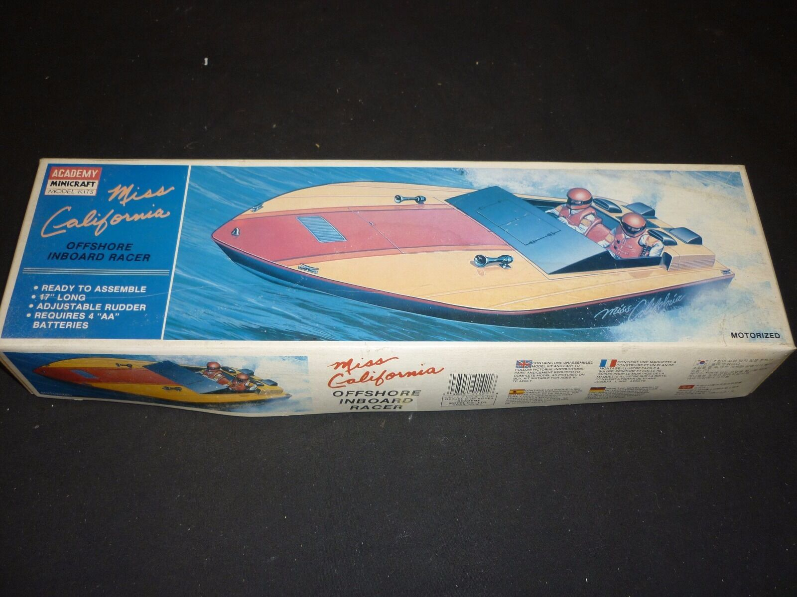 Academy un made plastic kit of a Miss California off shore inboard racer,  boxed