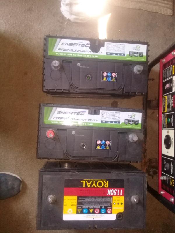 3 X Solar Batteries