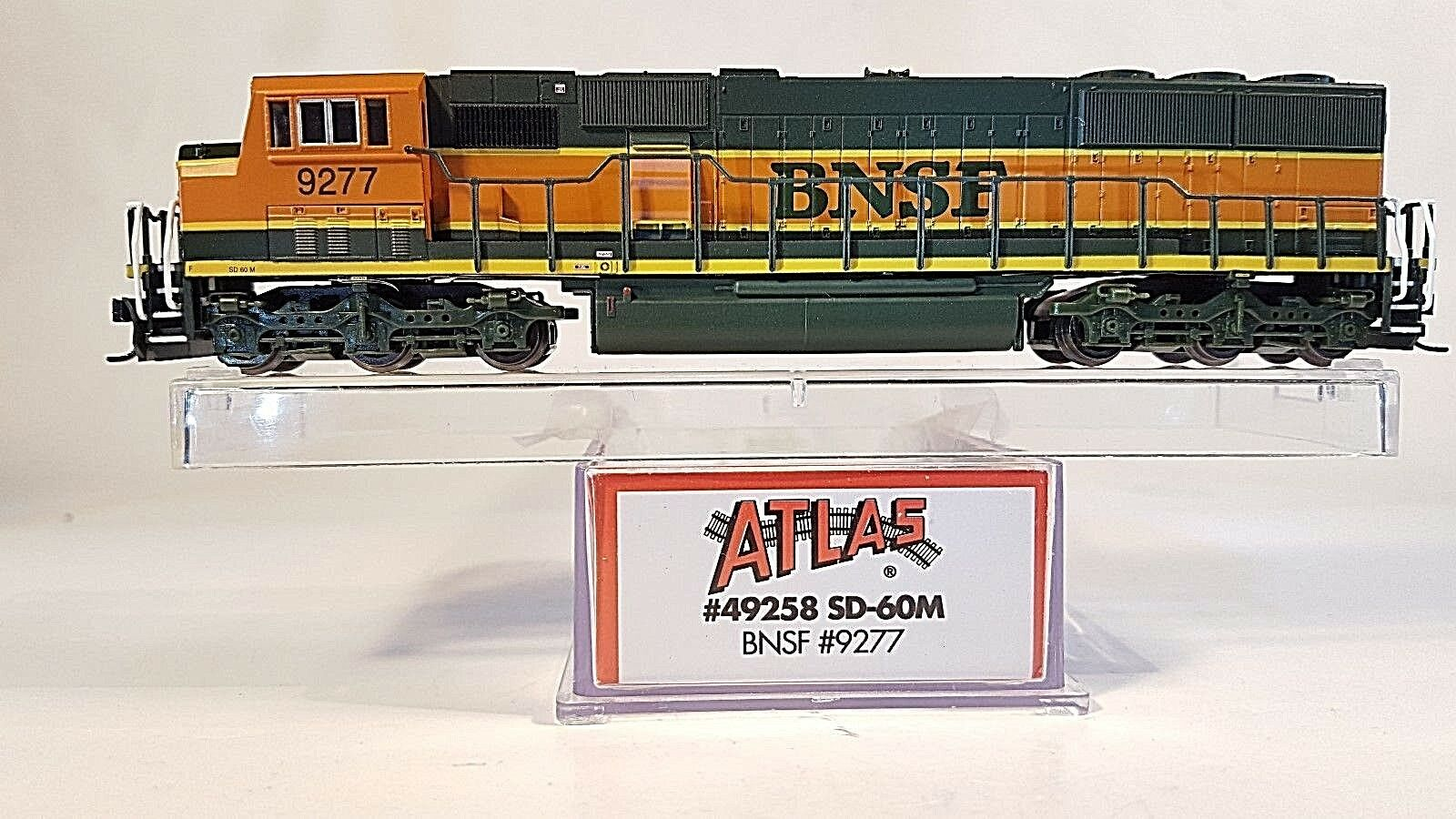 N ATLAS 49258 SD-60M BNSF Locomotive (Decoder Ready) (Tested)