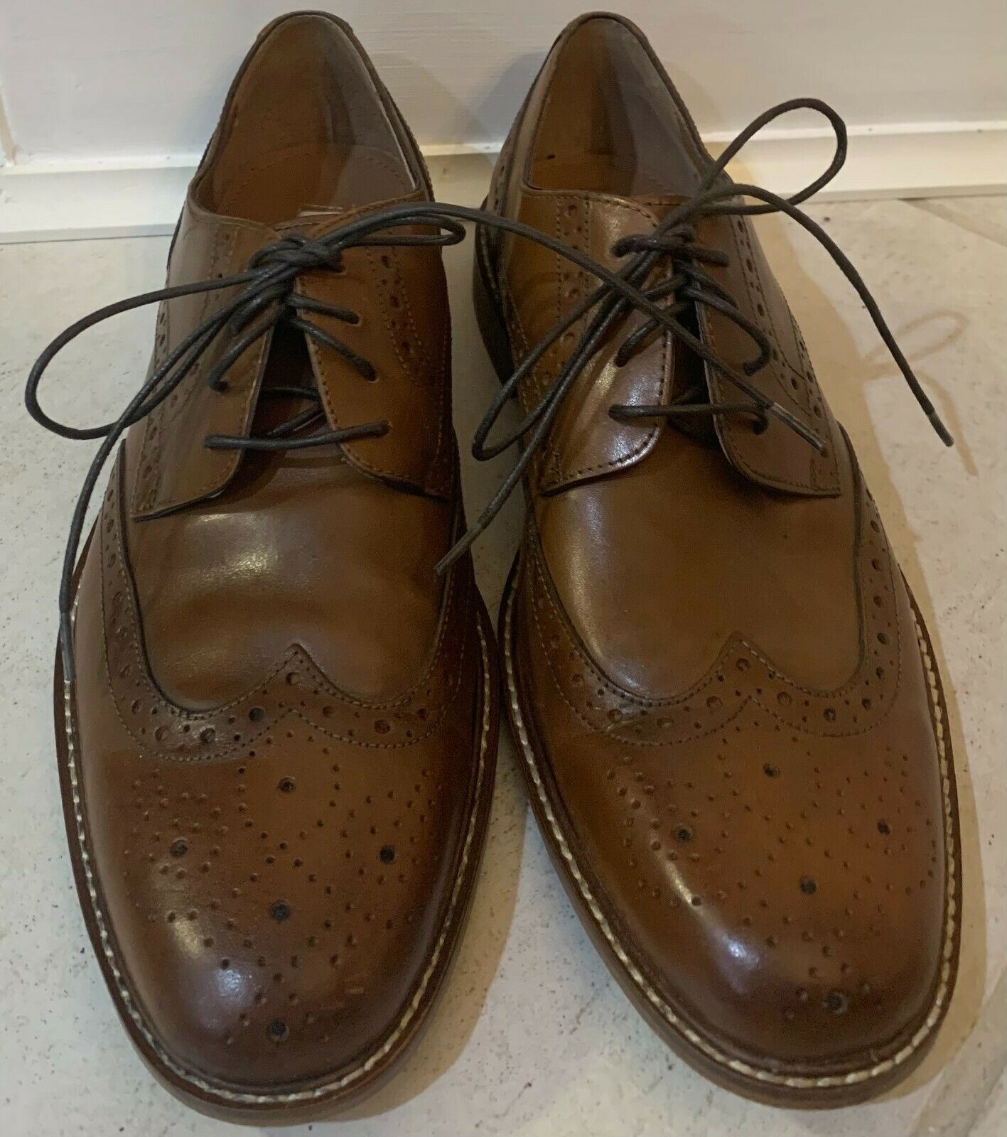 Joseph Abboud Brown Wingtip Loafers Size 8.5