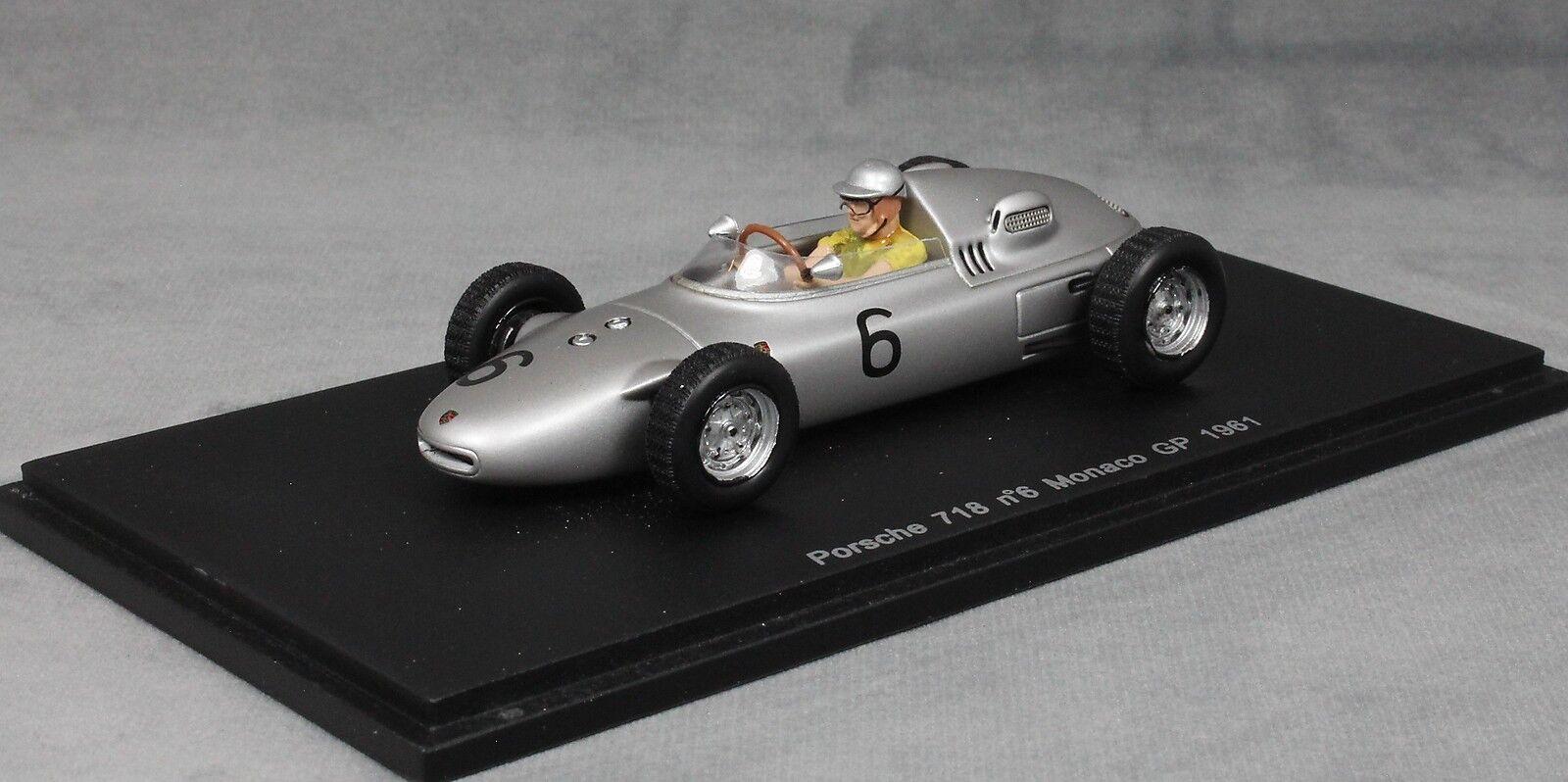 Spark Porsche 718 Monaco Formula 1 Grand Prix 1961 Hans Herrmann S1867 1 43 NEW