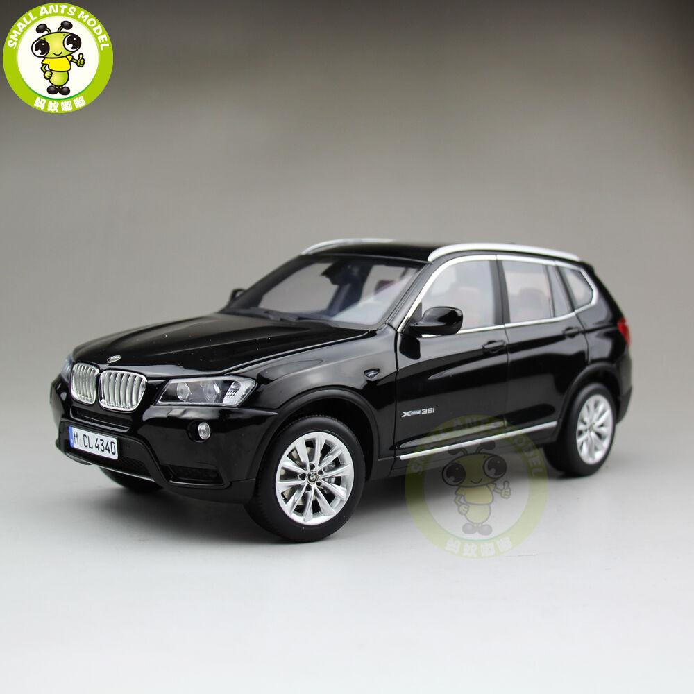 1/18 BMW X3 F25 xDrive 35i RMZ MODEL Diecast Model Car SUV Negro