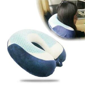 Sleep-By-Pure-Rest-Cool-Gel-Pad-Memory-Cotton-Foam-U-Shaped-Support-Pillow-F5X0
