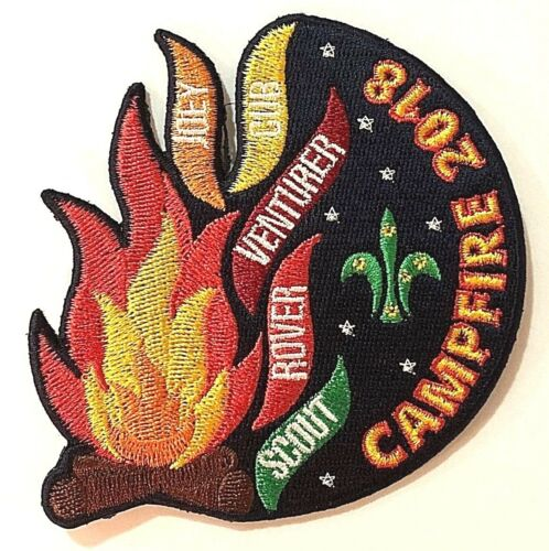 2018 AUSTRALIAN SCOUTS CAMPFIRE BADGE Annual Campfire Flames of Scouting