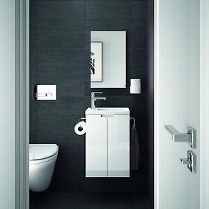 Allibert Meuble de salle bain invités-toilettes Set Pré-assemblé ...