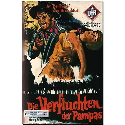 VHS Die Verfluchten der Pampas Robert Taylor UfA WESTERN KLASSIKER FILM 60er