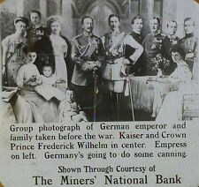 Group Photos of German Emperor & Family Before WW1, Magic Lantern Glass Slide