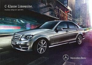 3066MB-Mercedes-C-Klasse-Limousine-Preisliste-2011-4-4-11-C-63-AMG-350-250-200-C