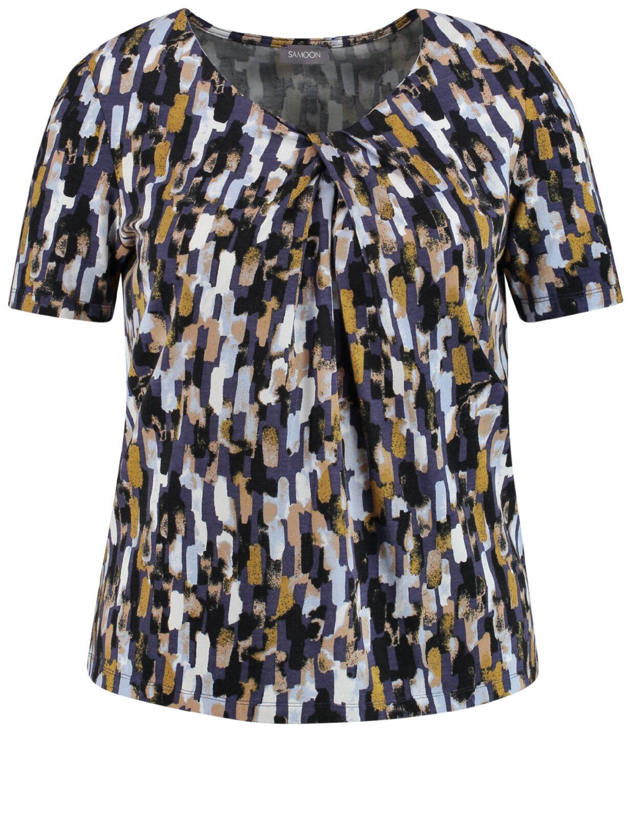 Samoon Shirt mit Knoten-Detail by Gerry Weber Neu TShirt Rundhals Damen Gr.50