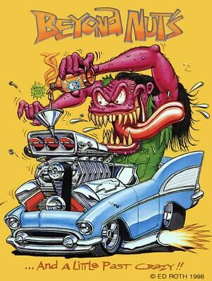Finkiest Rat Ghouliest Rat Fink The Grooviest Big Daddy Ed Roth Metal Sign